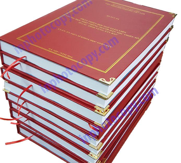Sản phẩm đóng sách bìa cứng mạ nhũ vàng