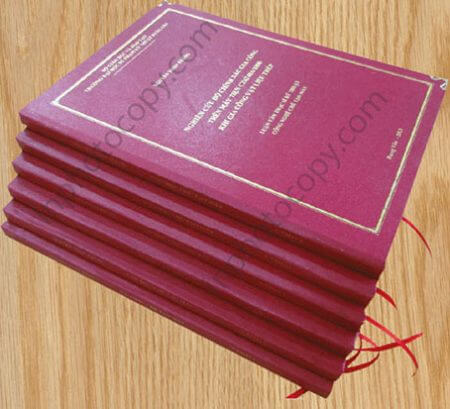 hình ảnh sản phẩm đóng sách bìa cứng