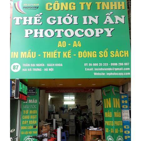 Cửa hàng Photocopy có hóa đơn đỏ uy tín chất lượng tại Hà Nội
