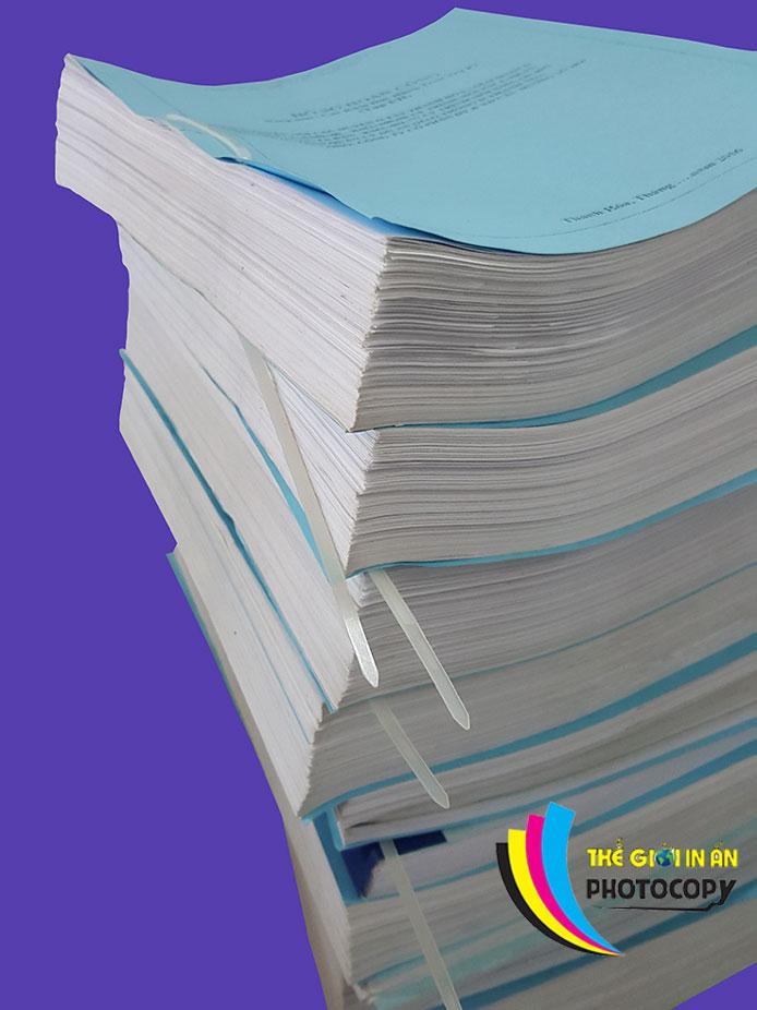 hồ sơ thầu A4 xoắn dây nhựa