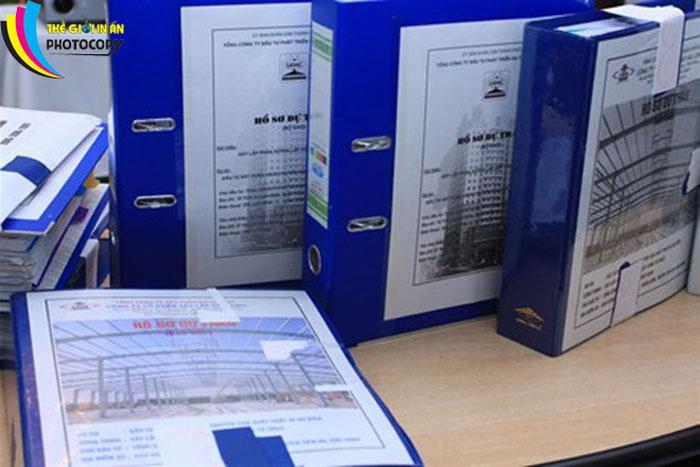 hồ sơ dự thầu của một công ty xây dựng
