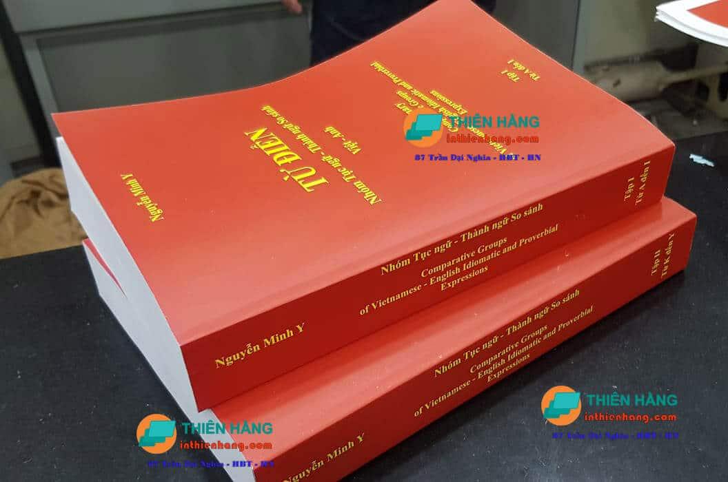 In sách từ điển - gia công keo nhiệt