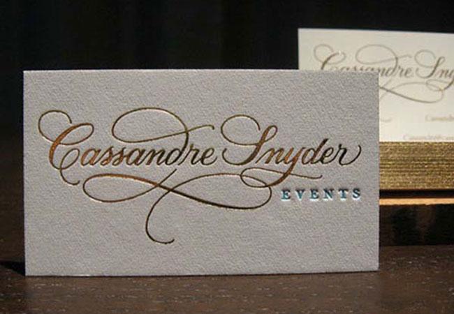 Mẫu Card visit đẹp cao cấp giấy mỹ thuật nhũ bạc