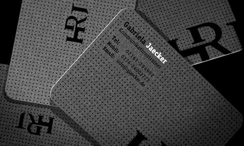 Mẫu card visit đẹp giấy mỹ thuật bo góc tròn
