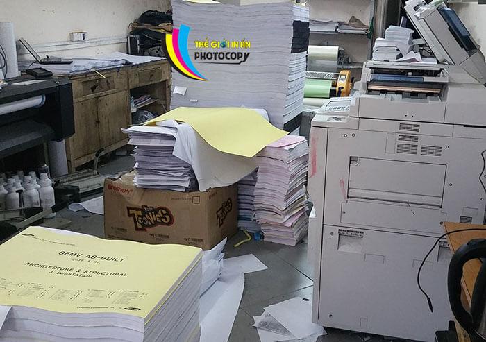 photocopy hồ sơ thầu xây dựng, bản vẽ kỹ thuật