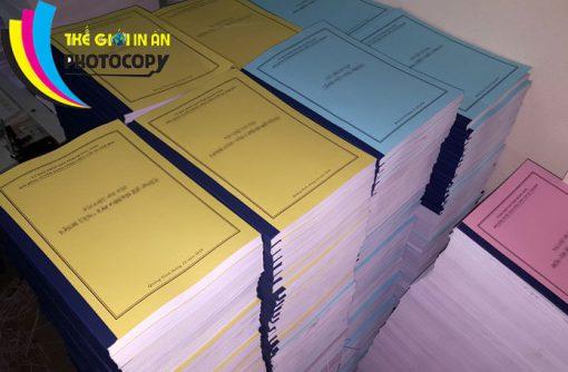 Photocopy số lượng lớn dập ghim