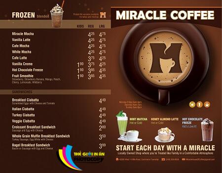 #9 mẫu Menu đẹp nhất cho quán Cafe 8