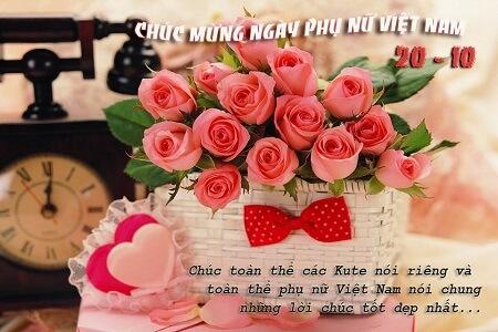 """Thiệp chúc mừng ngày phụ nữ Việt Nam 20/10 - """"Kute"""""""