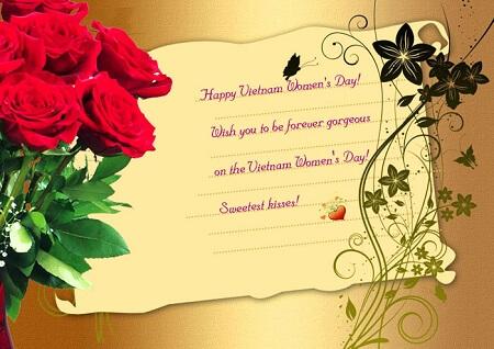 Mẫu thiệp chúc mừng ngày phụ nữ Việt Nam bằng tiếng Anh ấn tượng