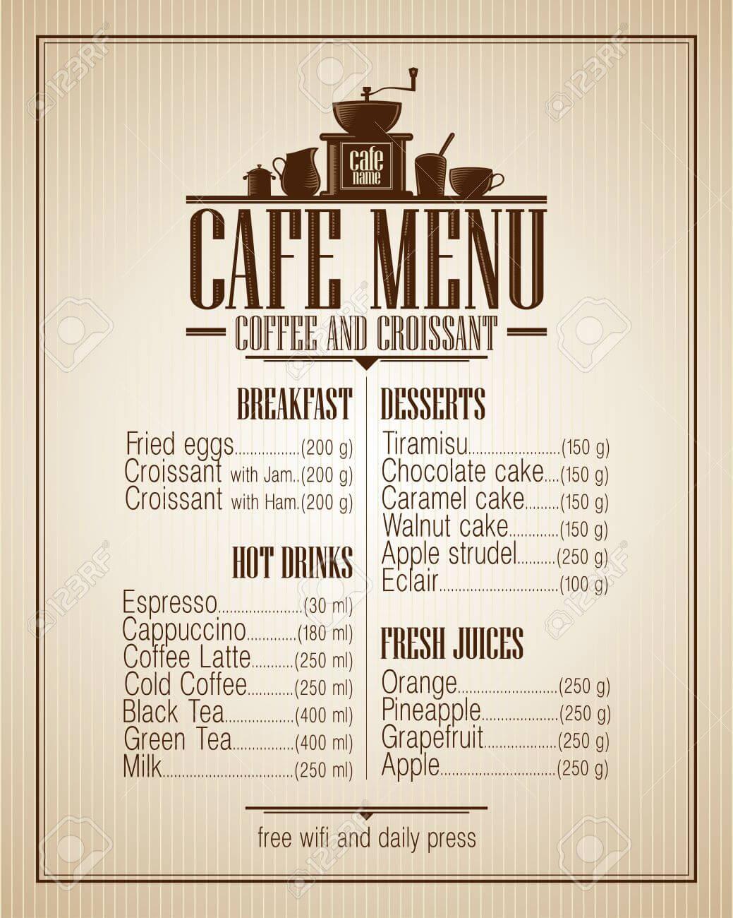 các mẫu menu sáng tạo
