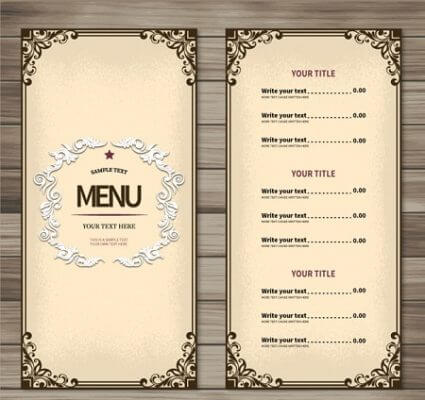 In menu bằng giấy
