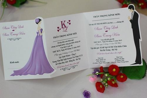 Mẫu thiệp cưới đơn giản đẹp nhất