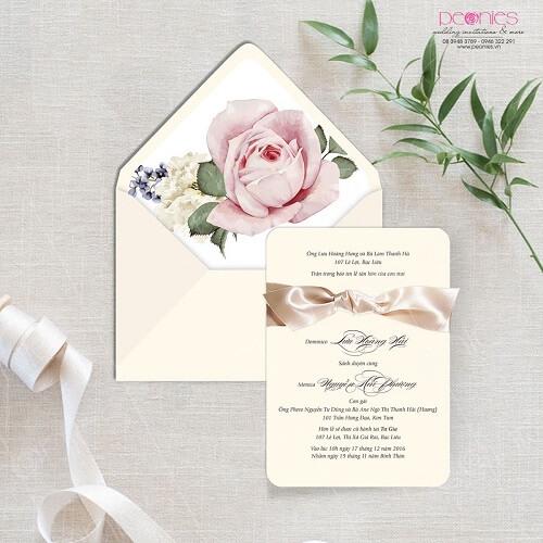 Mẫu thiệp cưới đơn giản tinh tế