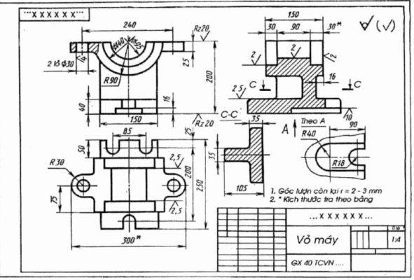 Photocopy khổ lớn bản vẽ kỹ thuật