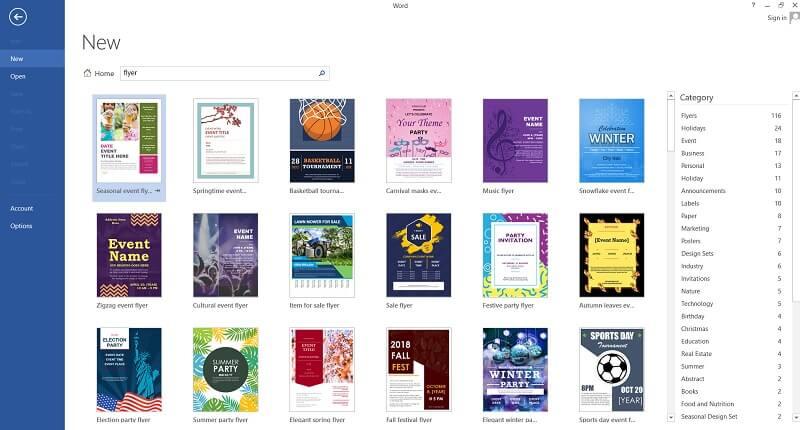 Phần mềm thiết kế tờ rơi microsoft word