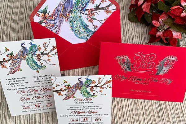 In thiệp cưới đẹp tại Hà Nội