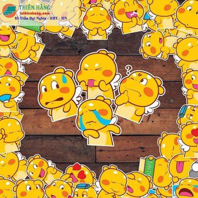 Mẫu sticker được các bạn trẻ ưa thích