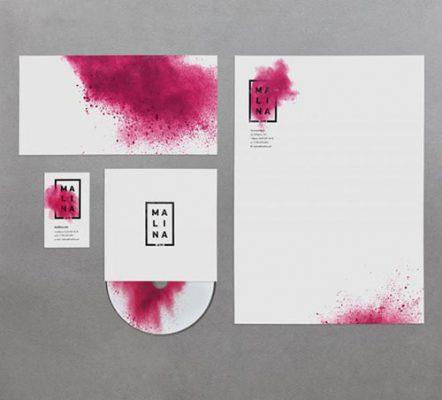 Mẫu in giấy tiêu đề với màu sắc nổi bật