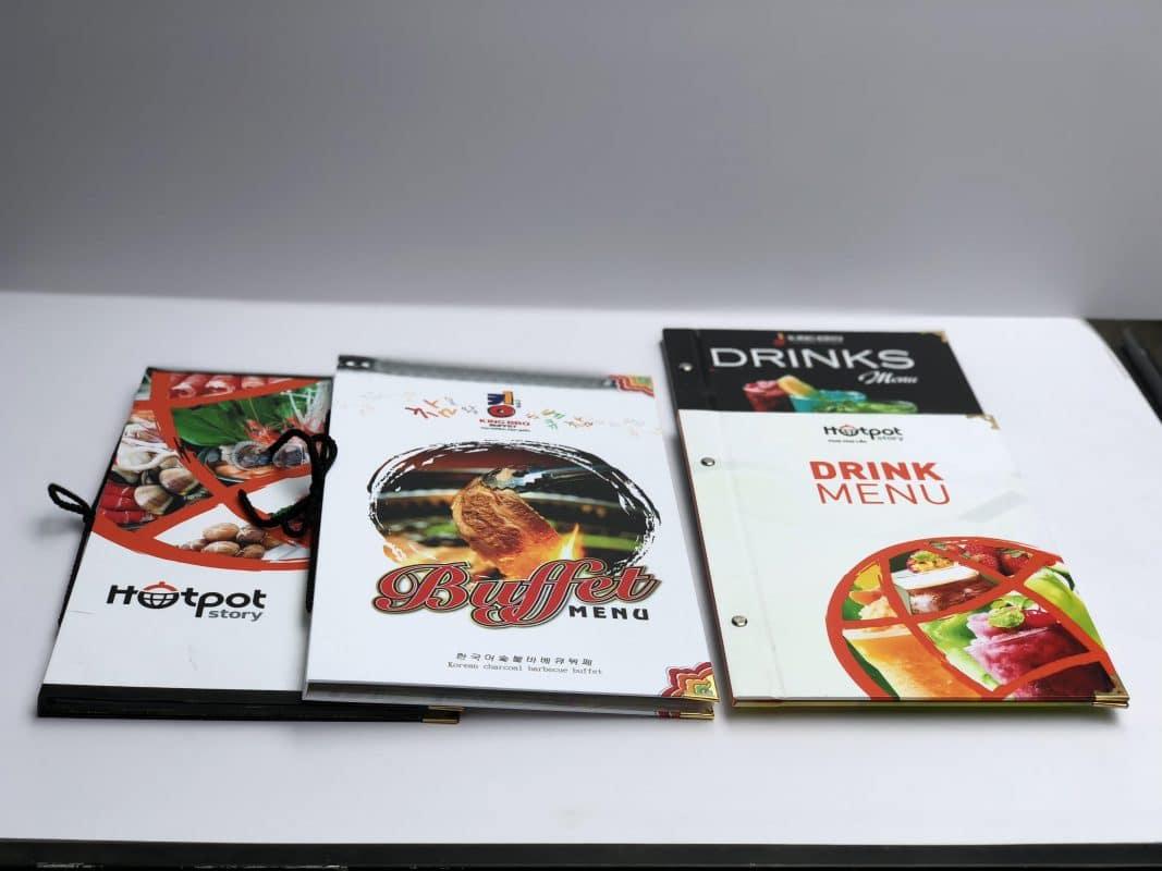 Thiết kế menu đẹp với bìa ấn tượng