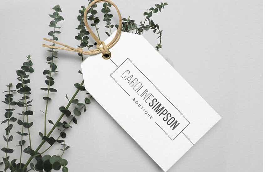 Thẻ treo, tag, mác quần áo in logo doanh nghiệp dễ khách hàng thu hút khách hàng hơn