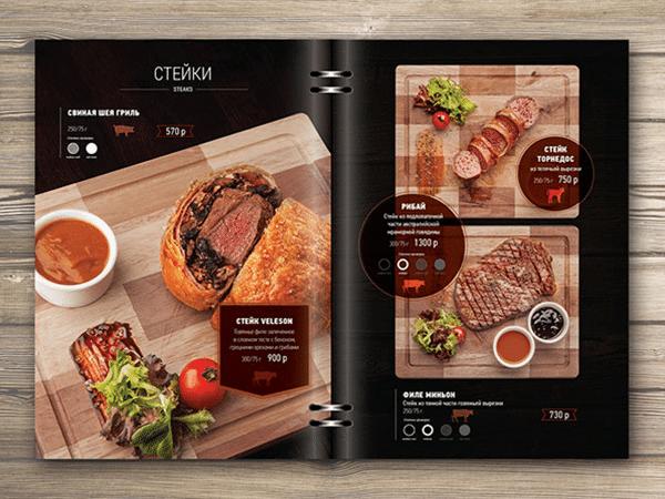 Thiết kế menu đẹp với hình ảnh và mô tả hài hòa