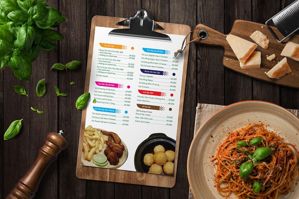 Thiết kế menu đẹp và in menu đẹp