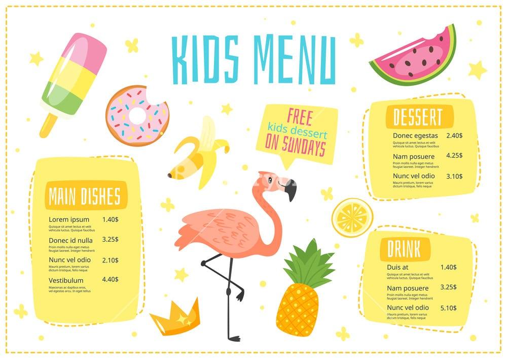 Thiết kế menu đẹp và trẻ trung